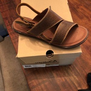 Sbicca Nonna sandals in Color Cognac.